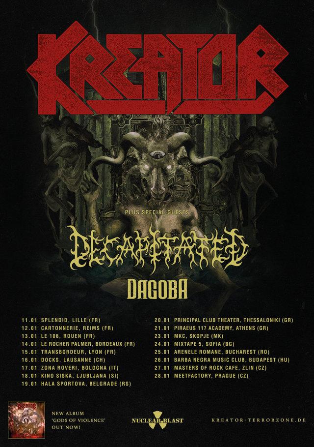 Kreator Decapitated Tour2018
