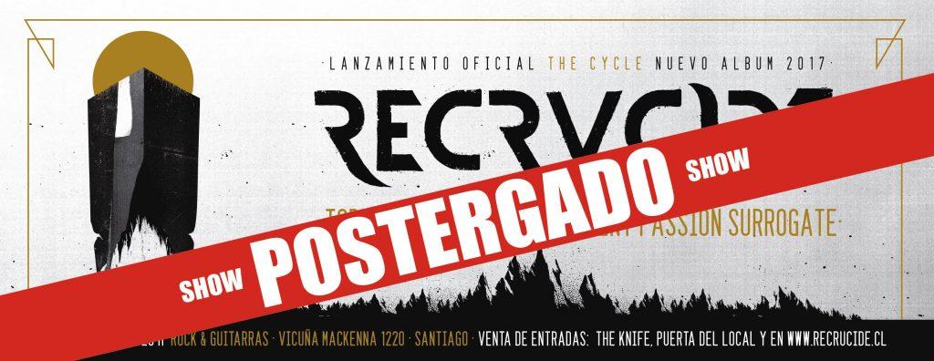 imagen de Chile: Comunicado sobre la postergación del Concierto de RECRUCIDE