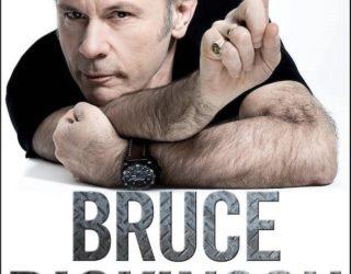 imagen de BRUCE DICKINSON  y su libro autobiografico, What Does This Button Do?.