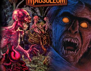 """imagen de MAUSOLEUM compilado anual de metal extremo, bajo el sello """"Horror pain Gore Death"""",  extreno 1 de Diciembre."""