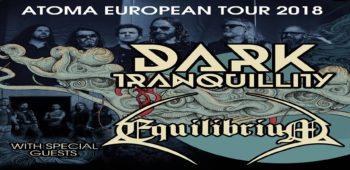 imagen de Dark Tranquillity y Equilibrium juntos en tour europeo 2018.
