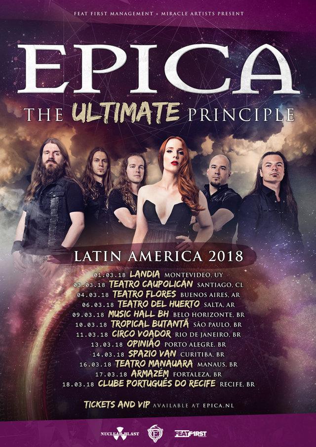 Epica Tour Latinoamerica 2018