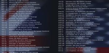 imagen de Def Leppard de gira junto a Journey por Estados Unidos.