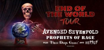 "imagen de Avenged Sevenfold anuncia el ""End Of The World Tour"" con Prophets Of Rage y Three Days Grace"