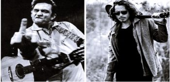 "imagen de CHRIS CORNELL hace parte del trabajo poetico-musical ""Forever Words"" de  JHONNY CASH."
