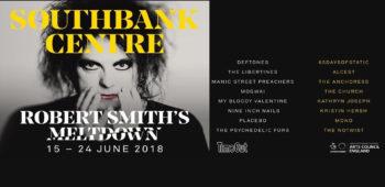 "imagen de ROBERT SMITH liderara  ""Meltdown festival 2018"" ."