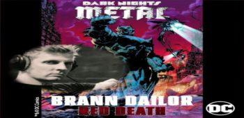 """imagen de El baterista Brann Dailor de MASTODON lanzó  la canción  de la banda sonora  """"Red Death"""" para DC Comics Dark Days: The Road To Metal."""