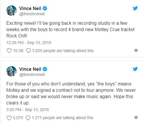 Vince Neil Tweets