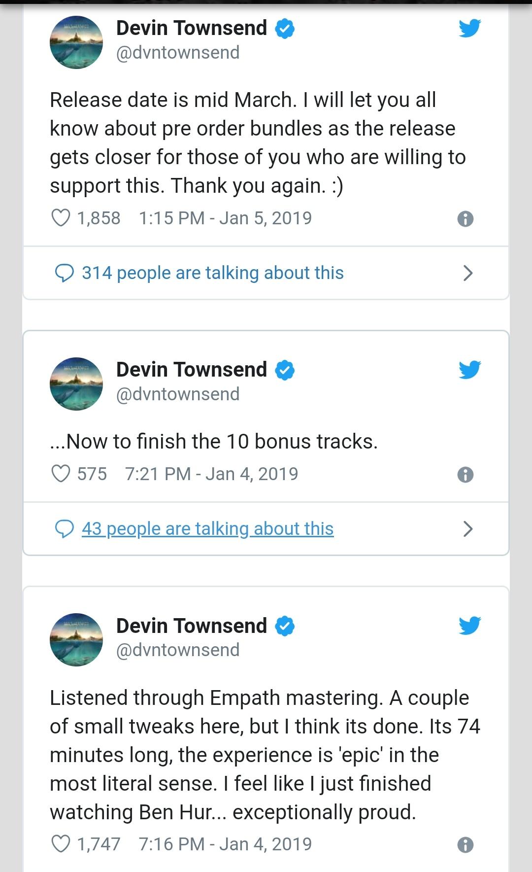 Devin Townsend En Twitter