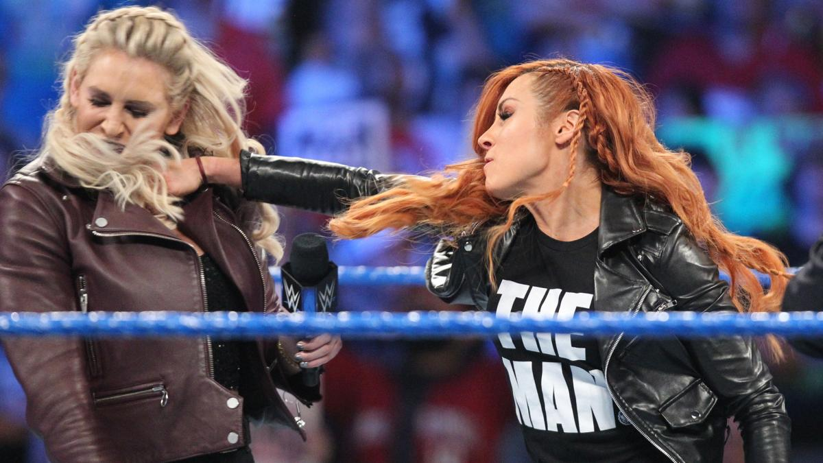 Becky Lynch Punch Charlotte Flair