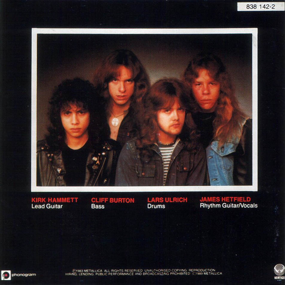 Metallica Kill Em All Interior Frontal