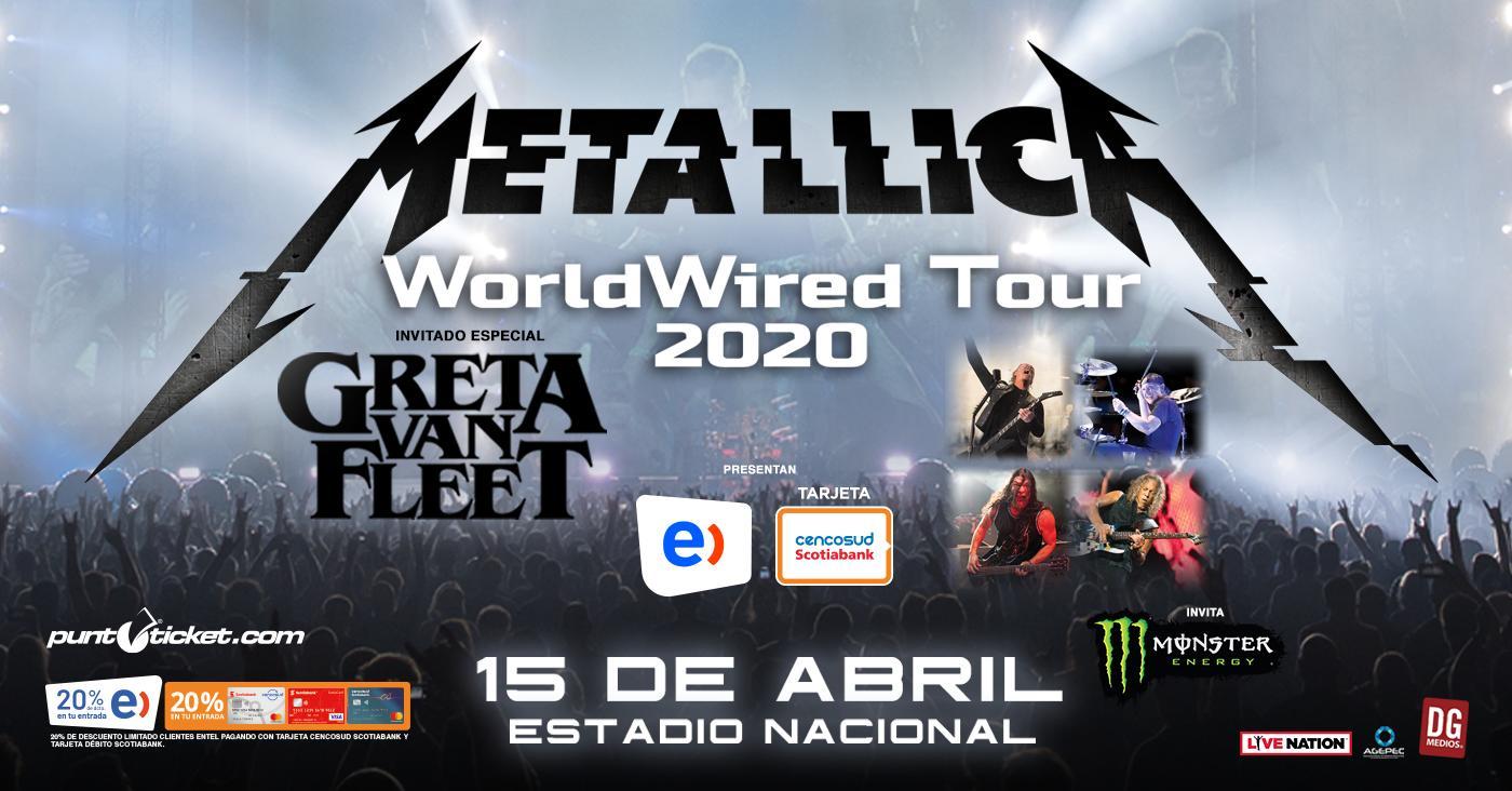Metallica Chile 2020 Fb